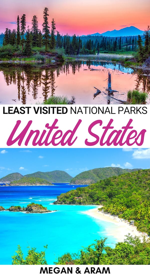 Curious what the least visited national parks in the US are (and why so few visit)? This guide lists the least visited US national parks and why you should go! | US national parks | Alaska national parks | US travel | Visiting national parks in US | America national parks | Colorado national parks | US Virgin Islands | American Samoa | Texas national parks | Washington national parks