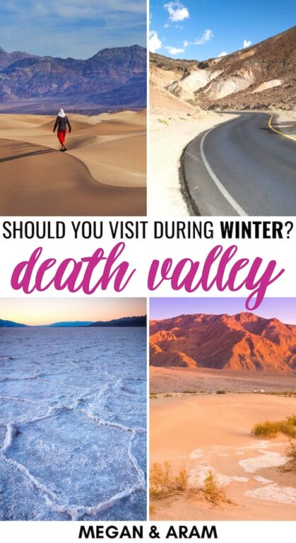 Are you planning a trip to Death Valley in winter? This guide details exactly what to do during winter in Death Valley (and why you should book a trip there! | Death Valley December | Death Valley January | Death Valley February | Death Valley winter | Death Valley nature | Death Valley hiking | Death Valley nature | Visit Death Valley | Travel to Death Valley hikes | Death valley camping | Death Valley winter camping | Death Valley winter hikes | Death Valley National Park winter