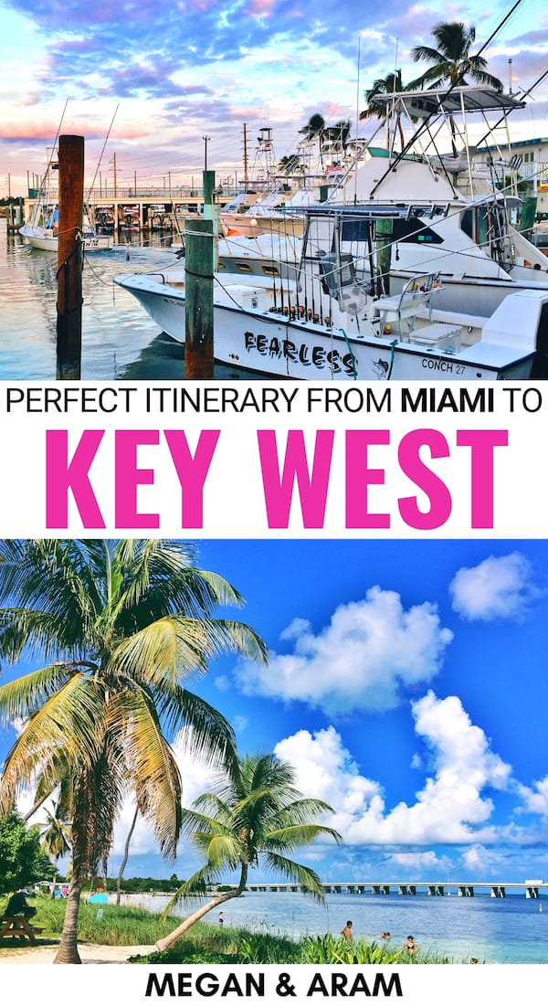 Planning the ultimate Miami to Key West road trip for your Florida trip? This guide breaks down how the Miami to Key West drive with the best stops along the way. | Key West road trip | Florida road trip | Florida keys road trip | Islamorada | Miami to key west road trip bucket list | Florida Keys beaches | Islamorada things to do | Key West things to do | Key largo things to do | Bahia Honda State Park