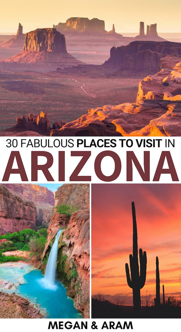 Are you trying to tick off places on your Arizona bucket list? This guide to the best places to visit in Arizona tells you where to go and why you should visit! | Arizona places to visit | Things to do in Arizona | Grand Canyon | Visit Arizona | Arizona day trips | Arizona destinations | Arizona travel | Must visit places Arizona | Places to visit in Arizona with kids | Arizona road trip | Destinations in Arizona