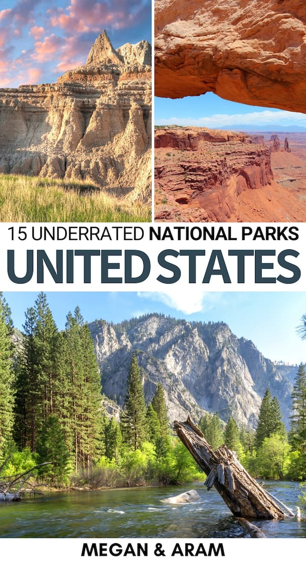 Searching for the most underrated national parks in the United States? These are the top fifteen underrated US national parks, in random order! | US national parks | national parks in America | Alaska national parks | Utah national parks | discover America | visit America | travel to the United States | US national parks in winter | US national parks in summer | US national parks to visit