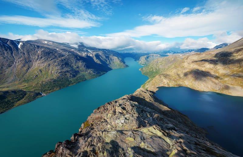Besseggen Ridge in Jotunheimen Norway