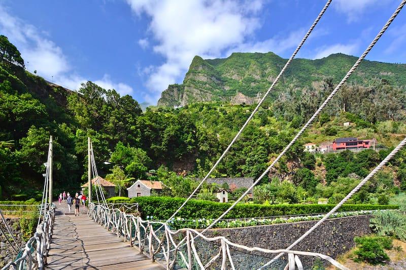 Bridge leading to the caves:lava tubes, Sao Vicente