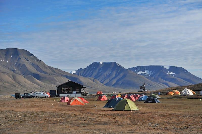 Camping in Longyearbyen
