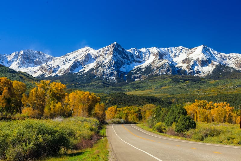Colorado Rockies during fall - Rocky Mountains facts
