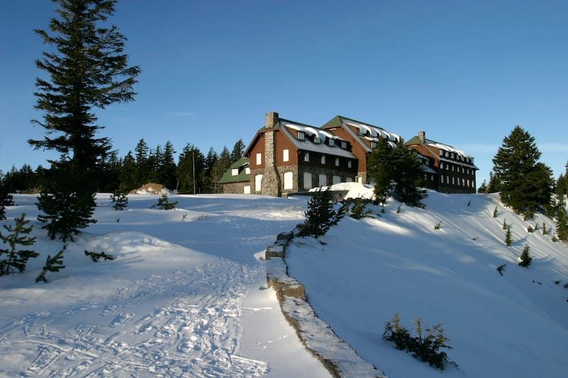 Crater Lake Lodge in winter