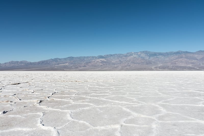 Death Valley in winter
