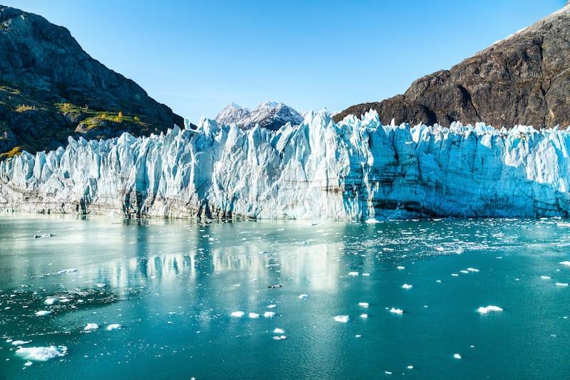 Glacier Bay National Park in Alaska glacier sea