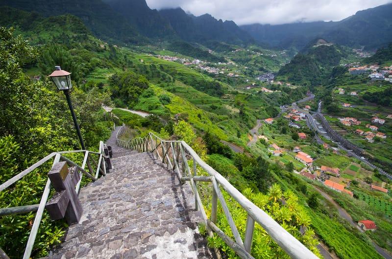 Green landscape near Sao Vicente
