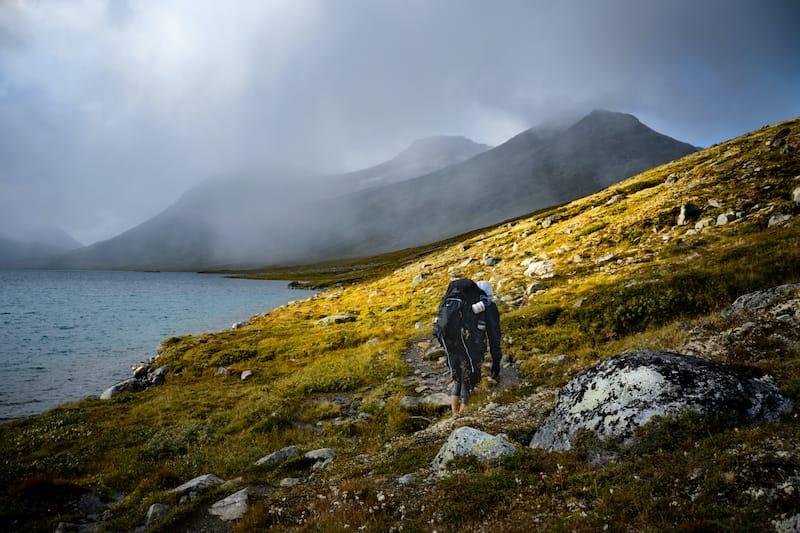 Hiking in Jotunheimen National Park in Norway