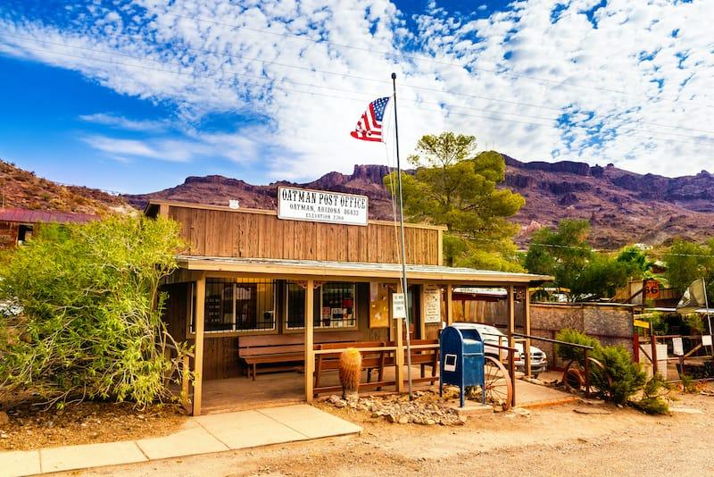 Historic US Post Office in Oatman, Arizona