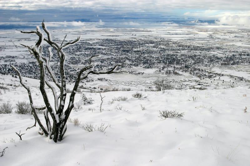 Klamath Falls Oregon in winter