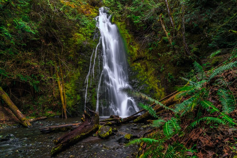 Madison Falls in Elwha River Valley, Olympic National Park Washington