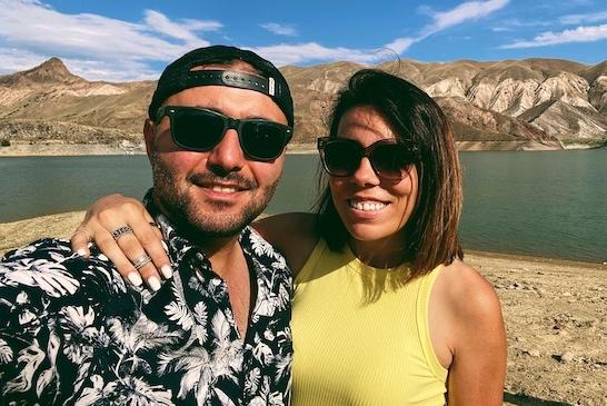 Megan and Aram travel blog landing page