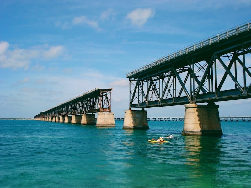 Old Bridge going to Key West FL road trip