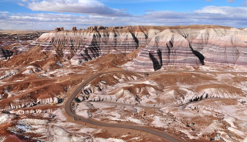 Petrified Forest National Park hiking trails in Arizona