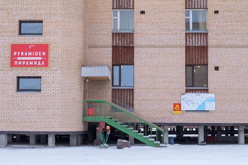 Pyramiden Hotel in Svalbard shutterstock_1536761975