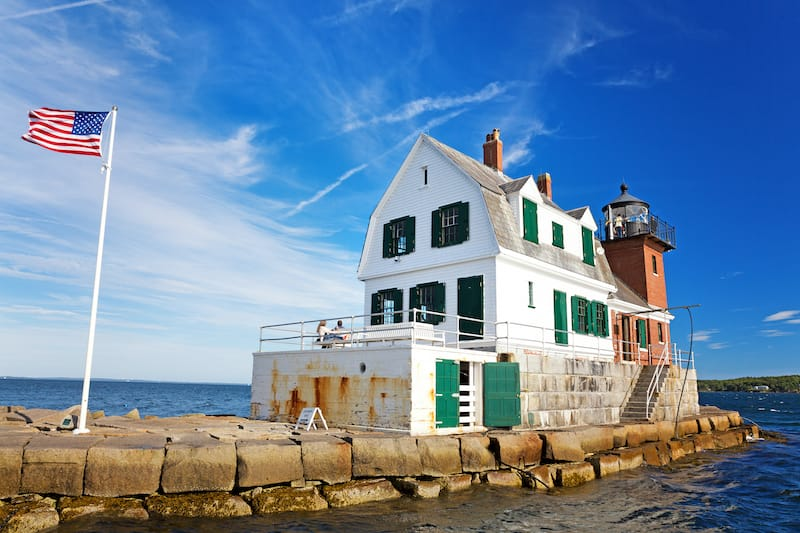 Rockland Breakwater Lighthouse in Maine