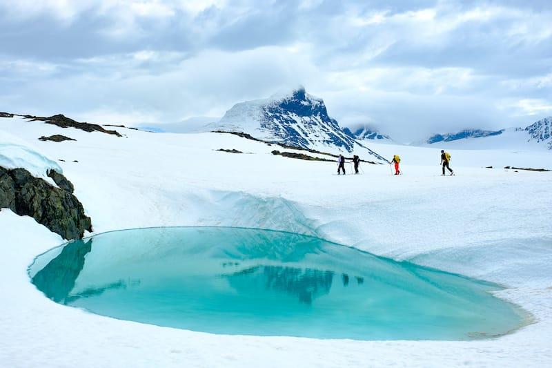 Ski touring in Jotunheimen, Norway