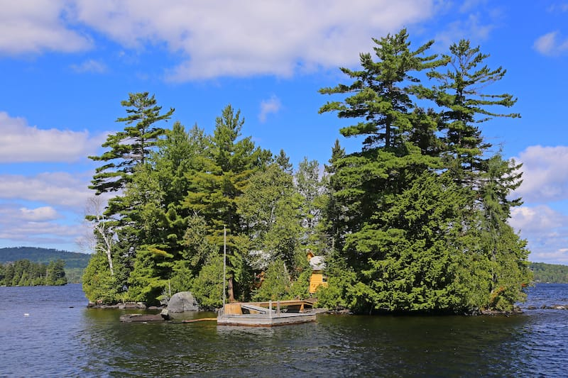 Small island in Moosehead Lake, Maine