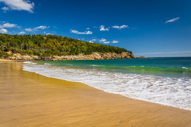 The Sand Beach, at Acadia National Park, Maine