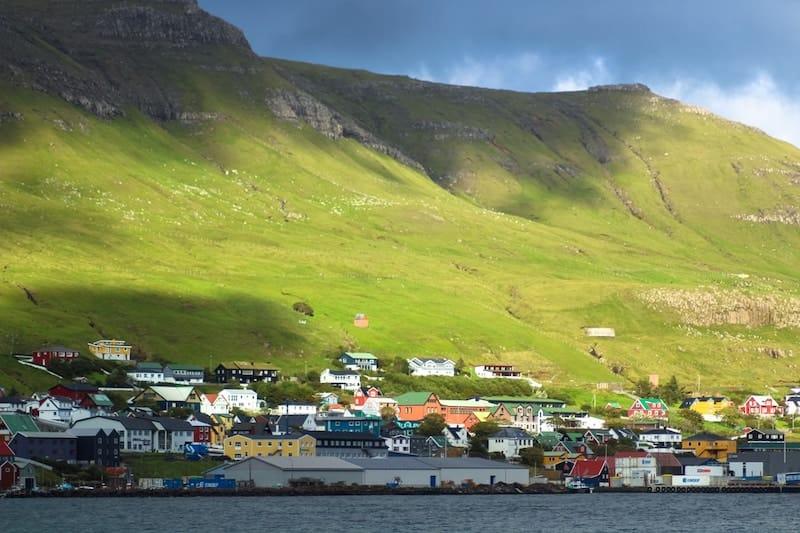 Tvøroyri Faroe Islands golden hour