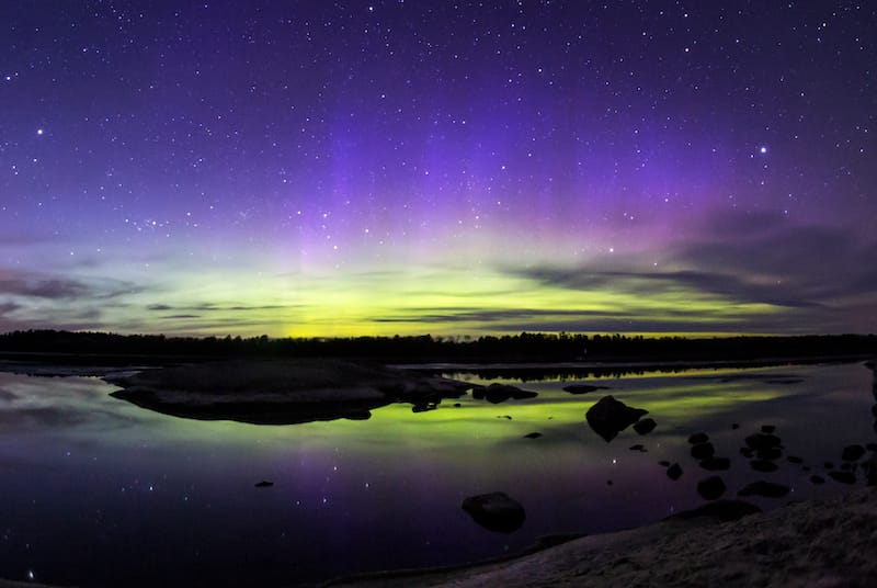 Voyageurs National Park northern lights in Minnesota