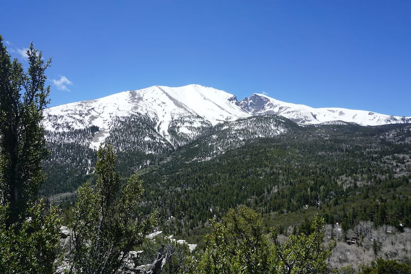 Wheeler Peak with snow - Great Basin National Park