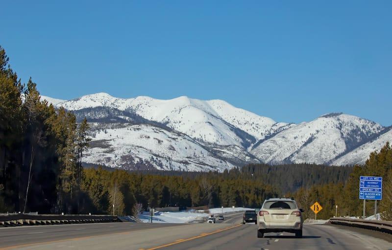 Winter roads to Glacier National Park