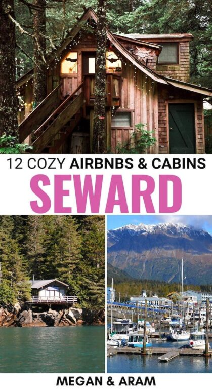 If you're heading to Seward for a trip to Kenai Fjords, a gorgeous Airbnb in Seward, Alaska will be the icing on the cake! These are the best cabins in Seward. | Seward cabins | Seward lodging | Seward airbnbs | Seward places to stay | Visit Seward | Kenai Fjords National Park lodging | Visit Kenai Fjords | Visit Alaska | Airbnbs in Alaska | Cottages Seward | Seward harbor