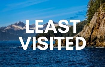 Least visited US national parks
