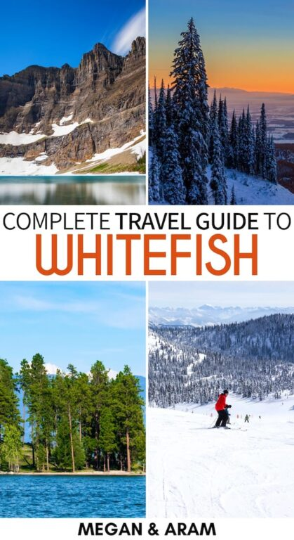 Planning a trip to spectacular northwest Montana? This guide details all the best things to do in Whitefish, Montana for those visiting for the first time! | Whitefish things to do | Places to visit in Montana | Montana skiing | Glacier National Park | Whitefish Lake | Whitefish hiking | Glacier national park hiking | Whitefish travel | Montana travel | Whitefish restaurants