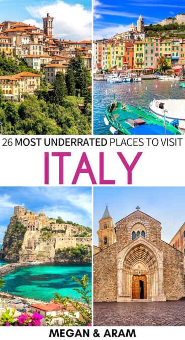 There are many fantastic places that are off the beaten path in Italy. This is a guide to some of the absolute best - put them on your Italy bucket list ASAP! | Visit Italy | Things to do in Italy | Italy destinations | Beaches in Italy | Beautiful places in Italy | Places to visit in Italy | Italy hidden gems | Italy islands | Italy beaches | Best of Italy | Travel to Italy | Instagrammable Italy | Italy photography
