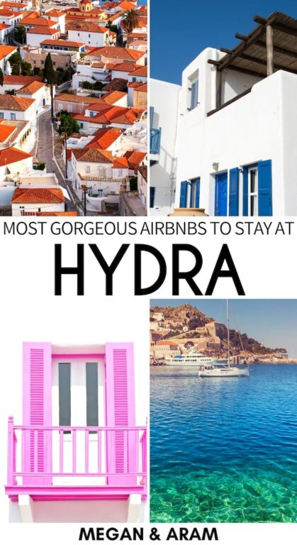 Are you looking for the best Airbnb in Hydra, Greece? This guide showcases the best Hydra Airbnbs and accommodation for your trip! | greece Airbnb | Greek Islands | Visit Hydra | Where to stay in Hydra | Airbnbs in Hydra | Saronic Islands Airbnb | Athens day trip | Trip to Hydra | Things to do in Hydra