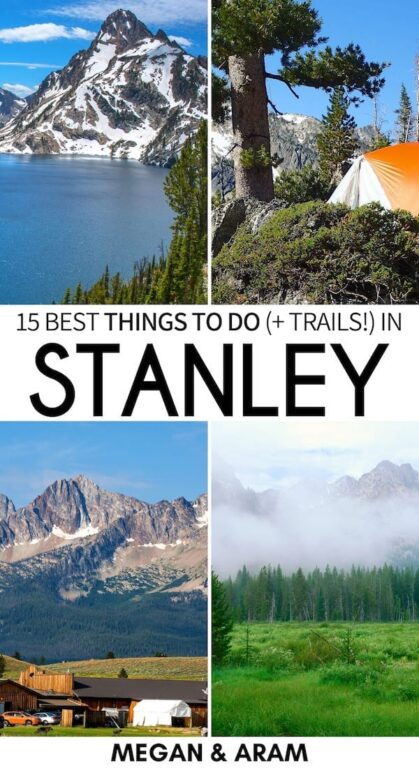 Are you planning a trip to Stanley, Idaho? These are the best things to do in Stanley and the nearby area - including hiking in Stanley and the Sawtooth Mountains, visiting Redfish Lake and Sawtooth Lake, and more! | What to do in Stanley | Stanley Idaho | Sawtooth National Forest | Visit Stanley | Visit Idaho | Idaho hiking | Boat Box Hot Springs | Hiking in Sawtooth Mountains | Trails in Sawtooth Mountains | Salmon River