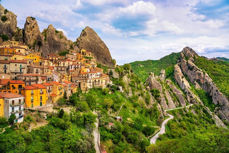 Castelmezzano village in Apennines Dolomiti Lucane