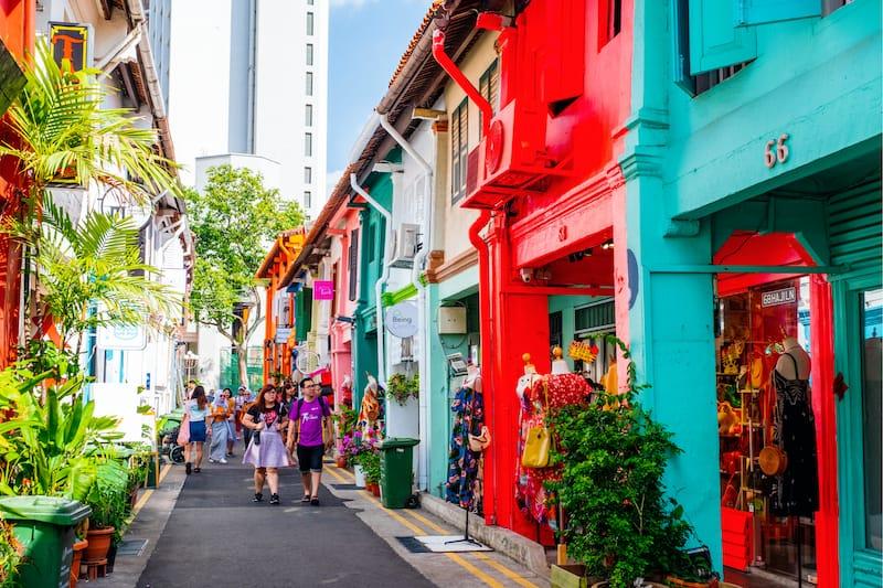 Haji Lane in Kampong Gelam Singapore Editorial credit- Chingfoto - Shutterstock.com