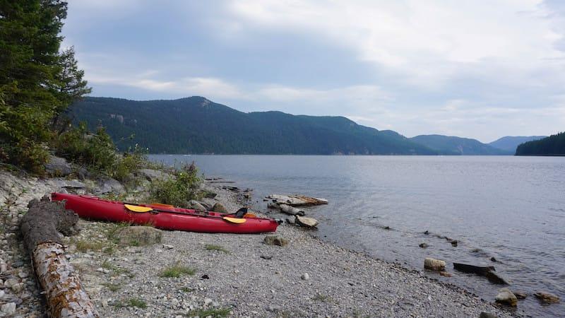 Kayak on Whitefish Lake in Montana