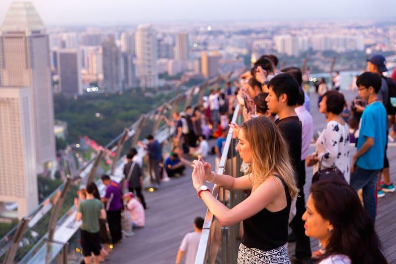 Marina Bay Sands Observation Deck SkyPark - Editorial credit - 2p2play - Shutterstock.com