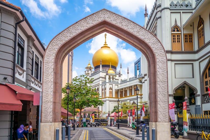 Masjid Sultan or Sultan Mosque in Kampong Gelam Singapore