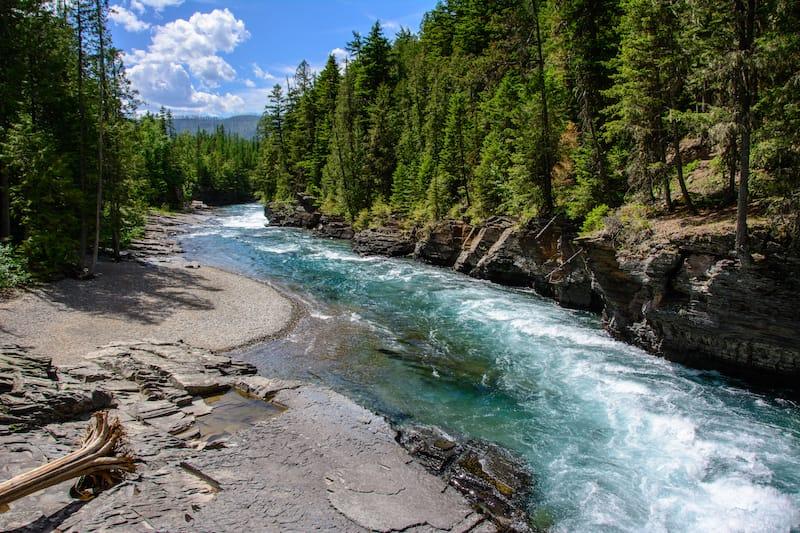 Middle Fork Flathead River in Glacier National Park