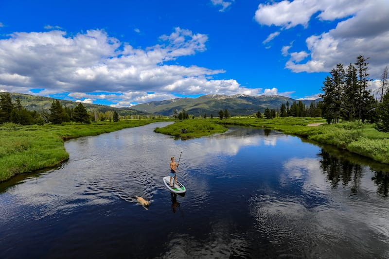 SUP in Salmon River in Idaho
