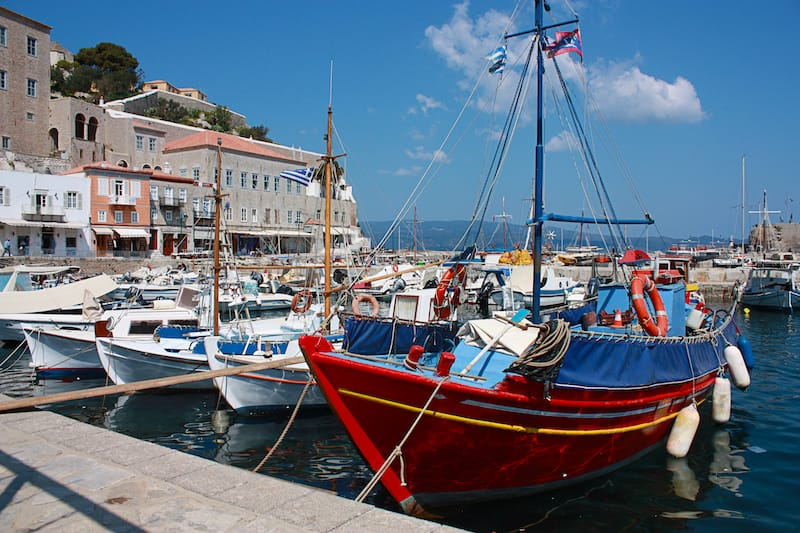 Harbor in Hydra Greece