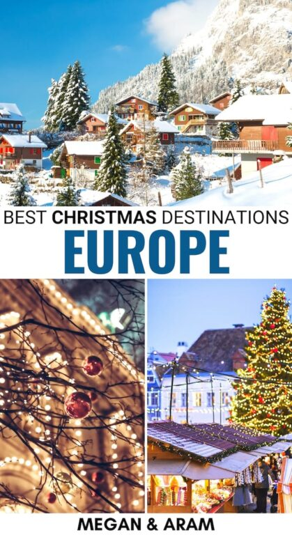 Are you looking to spend Christmas in Europe this year? Here are some dreamy destinations that have some of the best Christmas markets in Europe (and more). | Europe Christmas | Europe Christmas Markets | Christmas Markets Germany | Christmas Markets France | Germany Christmas | France Christmas | Vienna Christmas Market | Vienna Christmas | Tallinn Christmas | Norway Christmas | Prague Christmas
