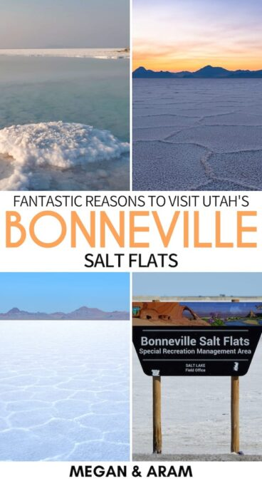 Are you planning to visit the Bonneville Salt Flats in Utah? This guide is a rundown to help plan your trip to Bonneville, including tips, lodging, and more! | Bonneville Salt Flats in Utah | Day trips from Salt Lake City | Salt Lake City day trips | Places to visit in Utah | Bonneville Speedway | USA Salt Flats | Wendover Utah | SLC day trips | Bonneville photography | Things to do in Utah