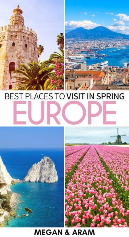 Planning your trip to Europe in spring? This is a guide to the best places to visit in Europe in April - from warm Naples, Italy to the Baltics and beyond! | Europe spring | Europe April | Spring in Europe | April in Europe | Italy in April | France in April | Spain in April | Faroe Islands spring | Azores spring | Germany spring | Caucasus spring | Norway spring | Places to travel in Europe | European Spring Destinations