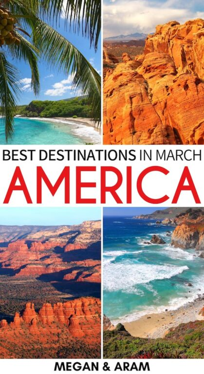 Looking for the best places to visit in March in the USA for your upcoming trip? These destinations are some of the best during spring in the US and will inspire you to go travel! | USA in March | March in USA | USA in spring | Spring in USA | America in March | Chicago in March | NYC in March | St. Patrick's Day USA | Boston in March | Florida in March | Arizona in March | Where to travel in March | Texas bluebonnets March | US Virgin Islands in March | California in March
