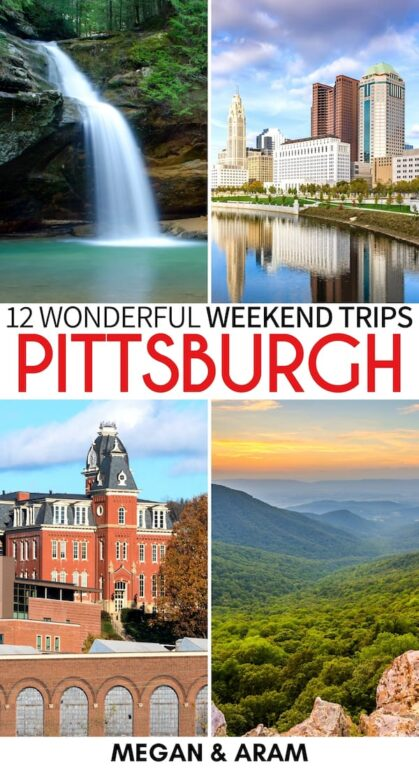 Are you on the hunt for the best weekend trips from Pittsburgh? This guide covers some fantastic Pittsburgh day trips as well as longer weekend getaways from Pittsburgh, Pennsylvania. Let us know your favorite in the comments! | Pittsburgh things to do | Places to visit in Pennsylvania | Day trips from Pittsburgh | Weekend trips Pittsburgh | City Breaks Near Pittsburgh