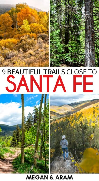 Are you looking for the best Santa Fe hiking trails for your weekend or trip to the New Mexico city? This guide details the best day hikes in Santa Fe. | Santa Fe trails | Santa Fe hikes | Hiking in Santa Fe | Santa Fe day hikes | New Mexico hiking | New Mexico trails | New Mexico hikes | Santa Fe Baldy | Diablo Canyon | Bandelier National Monument hikes | Picacho Peak | Nambe Lake Trail | Best hikes in Santa Fe | Best trails in Santa Fe | Best hikes in New Mexico