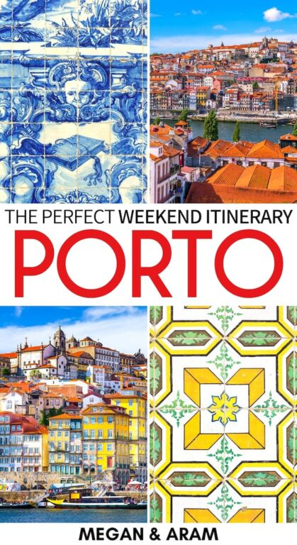 Do you have an upcoming trip to Portugal that includes 2 days in Porto? This weekend in Porto itinerary includes the best stops for first-timers! Check it out! | two days in Porto | Portugal itinerary | Itinerary for Porto | Porto port wine | Port wine tour | Douro Valley tour | Visit Porto | Things to do in Porto | Where to stay in Porto | What to do in Porto | Porto trip | Porto travel | Porto weekend trip | Weekend Porto
